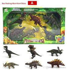 2019 6 realistic looking juric dinosaurs 4 kinds dinosaur sets with gift box party favors toy gifts for boys kids from cntoysmaster