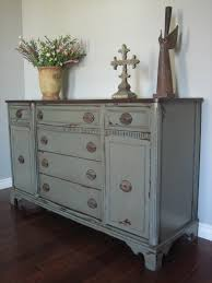 Painted Wooden Bedroom Furniture European Paint Finishes Green Gray Buffet