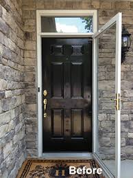 front door with one sidelightEntry Door and Transom Window Replacement  Extreme How To