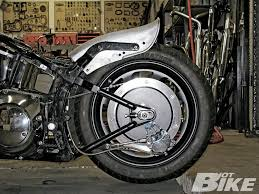 cut and roll harley davidson softail fender modification hot bike