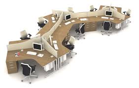 office desk layouts. cluster of 120 degree qore office desks desk layouts d