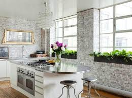 Interior Brick Wall Installation DIY  Kitchen with white painted brick wall