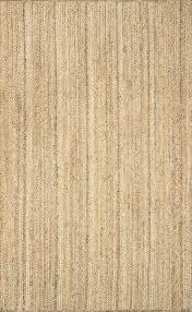 hand woven natural solid jute rug natural