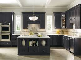 Interesting Black Kitchen Cabinets With White Countertops And