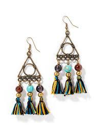 pyramid chandelier earrings