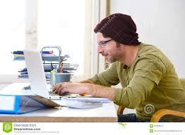working for home office. business businessman computer concept corporate creative employed freelancer happy hipster home laptop modern office portrait self worker working for