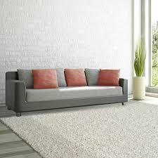 White Living Room Rug Lanart Comfort Shag White 8 Ft X 10 Ft Area Rug Cshag810w The