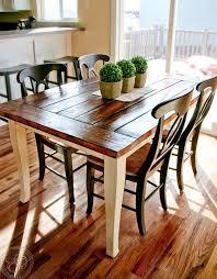 farmhouse dining table white legs
