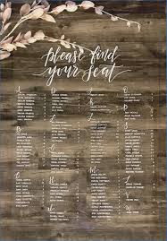 Wedding Seating Chart Template Word Free Templates