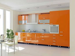 Orange And White Kitchen Orange Kitchen Design Zampco