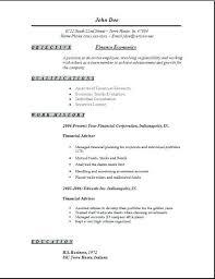 Stock Resume Sample Finance Economics Resume Finance Economics Stock ...