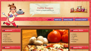 10 Best Food Recipe Blogger Templates 2015 Template For Share