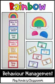 Behavior Management Chart And Resources Rainbow Theme