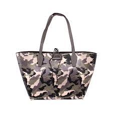 details about guess bobbi inside out las large pu leather tote handbag mc642236cag