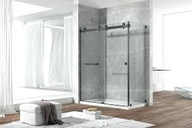 frameless glass shower doors thickness china stainless steel double sliding thick safety tempered bathrooms awesome