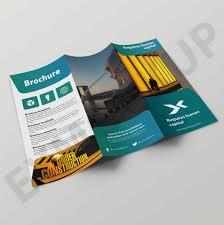 2 Folded Brochure Template Clean Tri Fold Brochure Templates