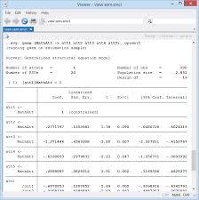 running gsem on estimation sample