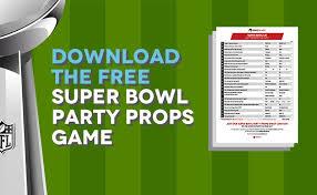 Printable Super Bowl Props Party Game Odds Shark