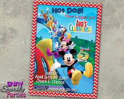mickey mouse party invitation mickey mouse birthday invitation