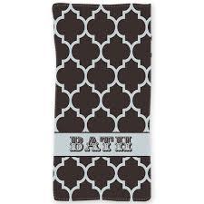 quatrefoil pattern personalized beach or bath towel