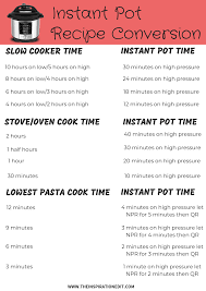 Instant Pot Conversion Chart Instant Pot Conversion Chart Free Download The Inspiration
