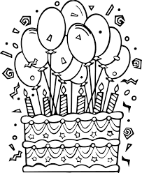 Download Birthday Cake Coloring Pages Armeniephotoscom