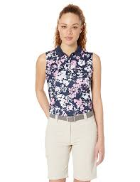 Callaway Ladies Size Chart Amazon Com Callaway Womens Sleeveless Floral Printed Polo