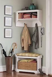 Corner Coat Rack With Bench Samantha Corner Bench and Shelf Front doors Corner and Mudroom 6