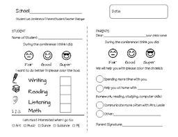 student conference form student led conference form elementary by i teach first tpt