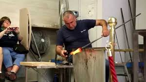 murano glass blowing horse demonstration venice italy
