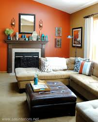 Burnt Orange Living Room Design Spring Mantel 10 Living Room Orange Burnt Orange Living