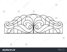 Balcony Fence wrought iron balcony fence stock vector 479580850 shutterstock 8509 by xevi.us