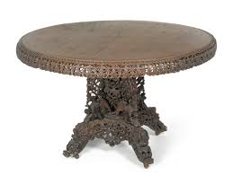 indian carved dining table. tennants auctioneers: an anglo-indian carved hardwood circular dining table indian t