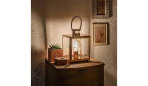 Copper Effect Lantern Lamp. -Hide Details  George - Asda