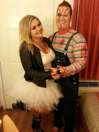 couples costumes chucky and chucky s bride costume diy couples costumes costume makeup
