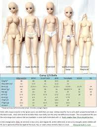 60cm Bjd Doll Comparison Chart A Nice Comparison Chart Wit