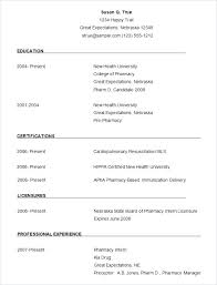 Simple Resume Format In Word Adorable Simple Resume Format Download In Ms Word Template Free Samples