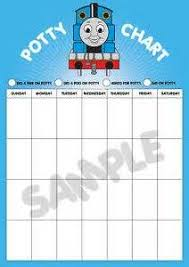 Thomas The Tank Engine Toilet Training Chart Thomas The Train Potty Chart Can Use Characters To Spice It