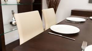 dark wood dining room furniture. stylish dark wooden dining table and beige chairs wood room furniture