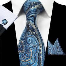 Ricnais Silk <b>Tie</b> for Men Black <b>Floral Paisley Tie</b> and Handkerchief ...
