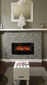 electric fireplace and mini coffee