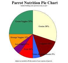 Pie Food Chart Parrot Nutrition Pie Chart Diet Chart Parrot Galah Cockatoo