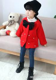 toddlers fur coat girls autumn winter coats baby girl big bows outwear kids clothes infant toddler fashion trench coats whole clothing kids clothes