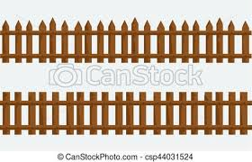 wooden farm fence. Wooden Farm Fence. Vector With Flat And Solid Color Fence