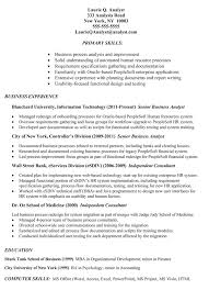 Downloadable Business Process Analyst Resume Template Business Analyst  Resume Example Targeted To Job Job Resume
