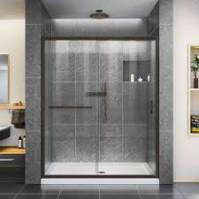 bathroom design center 3. Infinity-Z 60 In. X 74-3/4 Framed Sliding Bathroom Design Center 3