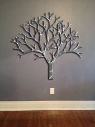 giant tree metal wall art abstract wall decor by inspiremetals 199 00 on wall art trees metal with tree metal wall art silver wall decor tree art metal art