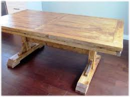 diy reclaimed wood dining table. dining tables:how to make a wooden table at home solid wood trestle diy reclaimed o