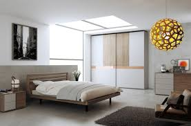Mdf Bedroom Furniture Modern Minimalist Bedroom Idea With Mdf Bed Frame And Unique Globe