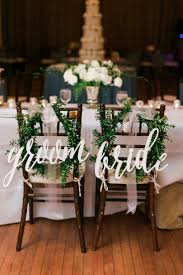 Pretty idea for decorating the bride & groom's chairs | narwall